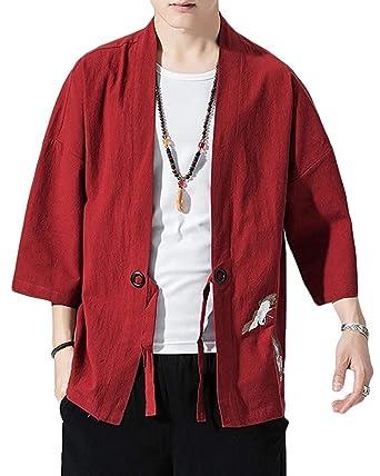 Cárdigan Hombre De Happi para BOLAWOO Kimono Kimono Japón Jc31TKuFl5