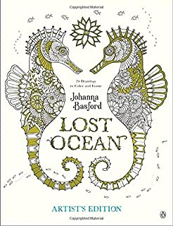 lost ocean artists edition an inky adventure and coloring book for adults 24 drawings - Drawings To Color
