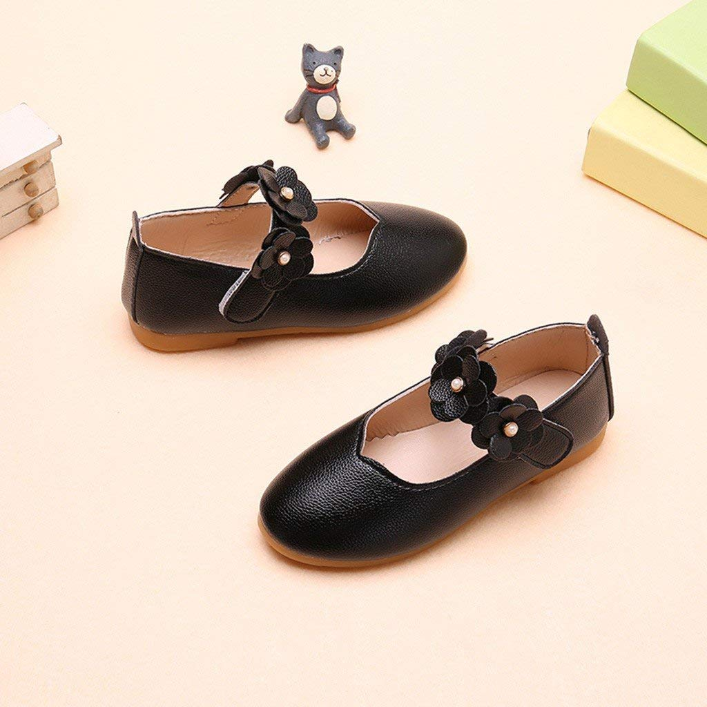 Baby Kid Sandals,Boomboom Toddler Baby Girls Kids Princess Cut-Outs Pearl Flower Casual Flat Single Shoes