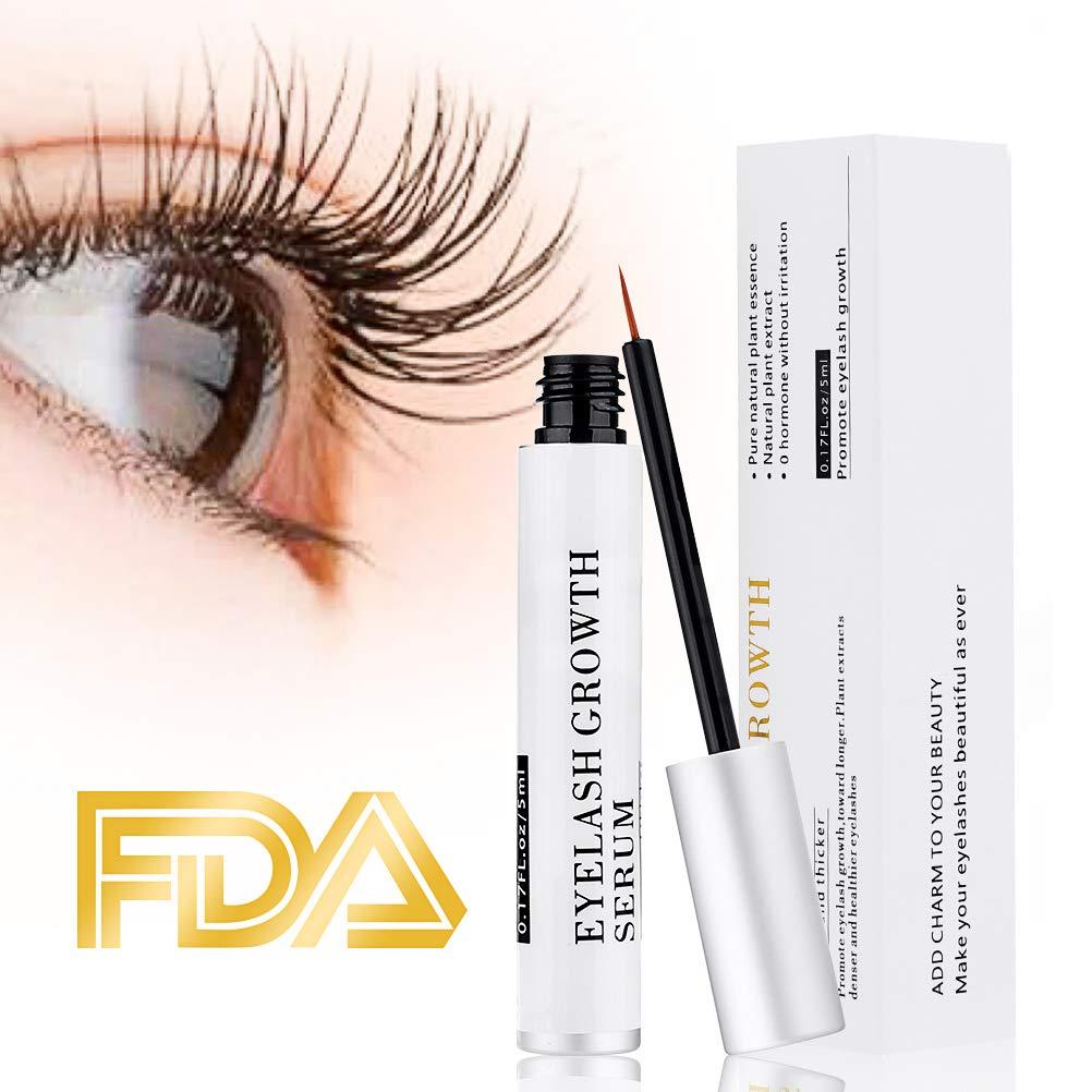 13a2b4d9960 Amazon.com: Eyelash Serum Eyelash Growth Serum Lash Enhancer Serum Eyelash  Booster for Longer Fuller Eyelashes Eyebrow Enhancer Serum 5ml: Beauty