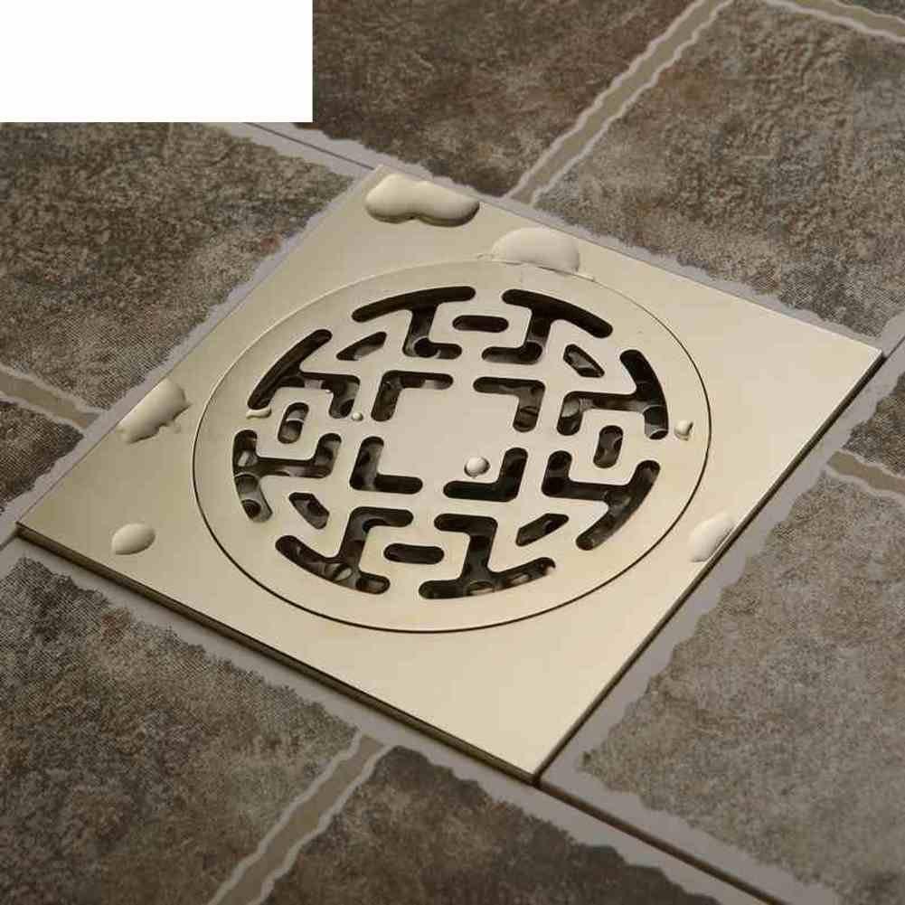 copper floor leakage/Deodorant anti-overflow water leak/ European-style big flow to drain