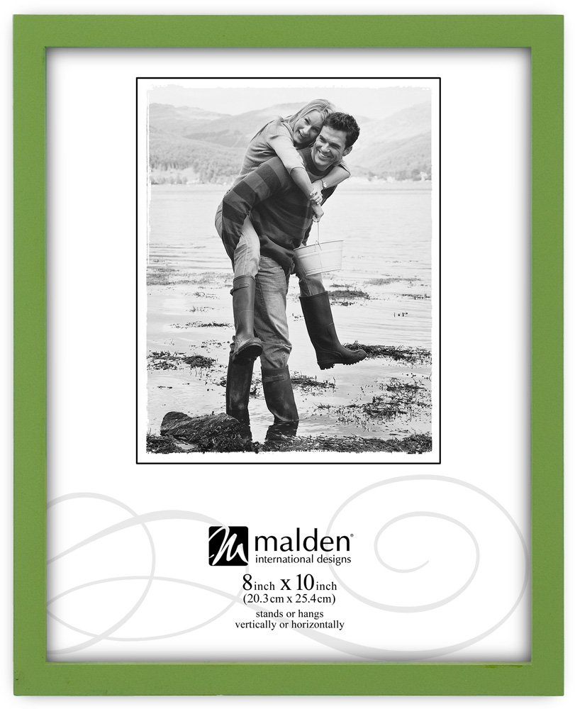 Malden International Designs Green Concept Wood Picture Frame, 8-Inch by 10-Inch