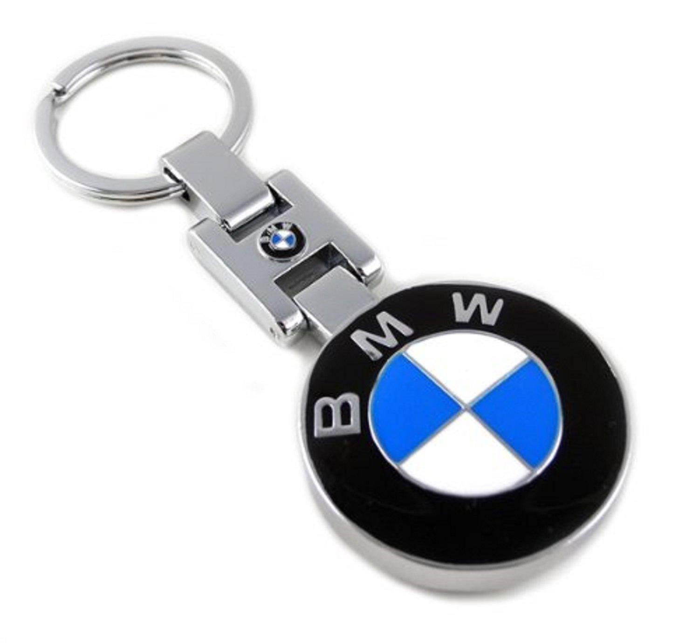 Gumptrade BMW emblem portachiavi in metallo solido con finitura cromata Heavy Duty