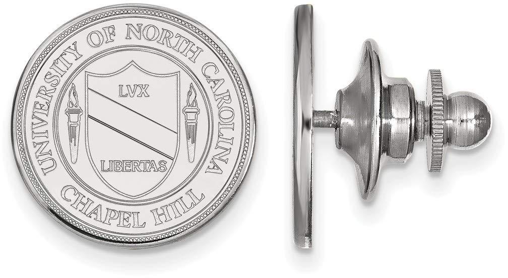 14K White Gold University of North Carolina Crest Tie Tac by LogoArt