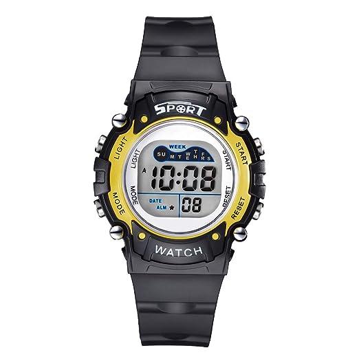 Reloj Digital para niños de 7 Colores con luz Intermitente para niños, niñas, niños de 3 a 12 años: Amazon.es: Relojes