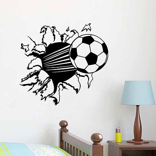Cool 3D Soccer Football Wall Sticker for Sport Boy RoomVinyl Home Decor Decal
