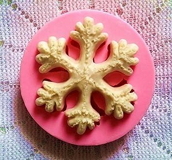 aloiness Molde de Silicona en Copos de Nieve de Navidad Creativo para Pastel Jabones Hechos a Mano Gelatina Velas Cookie Budín Chocolate DIY: Amazon.es: ...