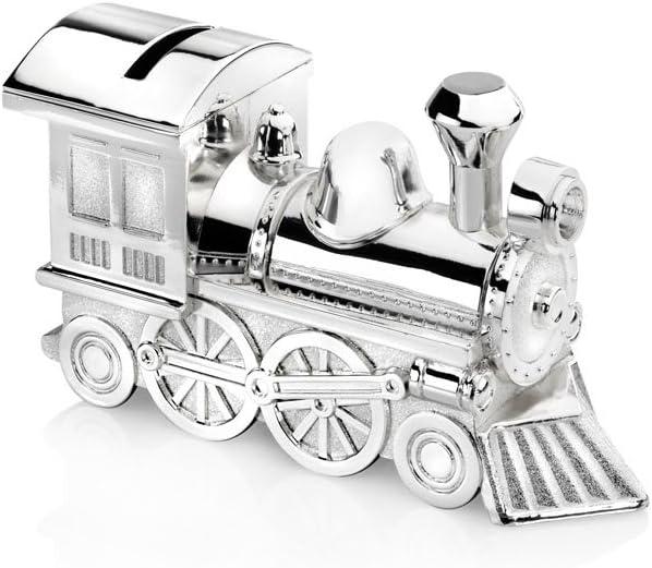 Zilverstad 6752261 Tirelire Locomotive Argent/é Laqu/é