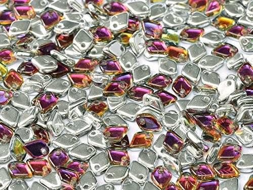 8gr Dragon Scale Bead - Czech Glass Pressed Diamond-shaped Beads 5x1.5 mm Crystal (0.5 Mm Scales)