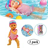 Beita Swimming Doll,Water Baby Doll,Waterproof Interactive Water Baby Doll Bathtub Toy, Girls Mini Home Decorations,Holiday Birthday Gift Educational Toy for Kids