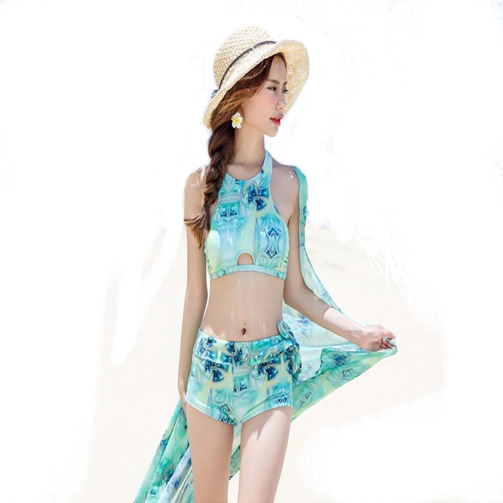 HTWWJ weiblichen Split flachen Bikini drei Sets von kleinen Brust sammeln konservativen , xxl