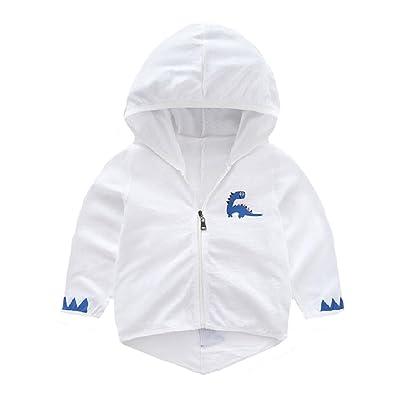 Zimaes Kids Sunscreen Zip up Longsleeve Fine Cotton Hoodie Sweatshirt