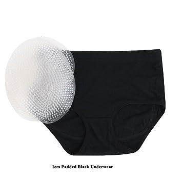 Jolie Mujer Sin Costura Butt Lifter Slips Acolchadas Hip Enhancer Respirable Ropa Interior,Black,