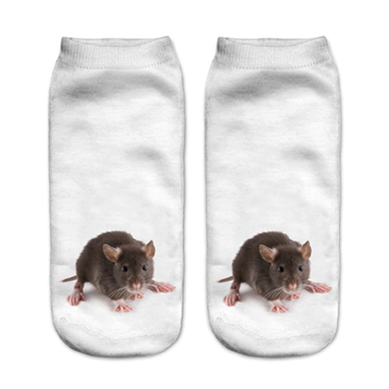 Doxi 3D Animal Print Casual Sport Cartoon Low Cut Ankle Socks