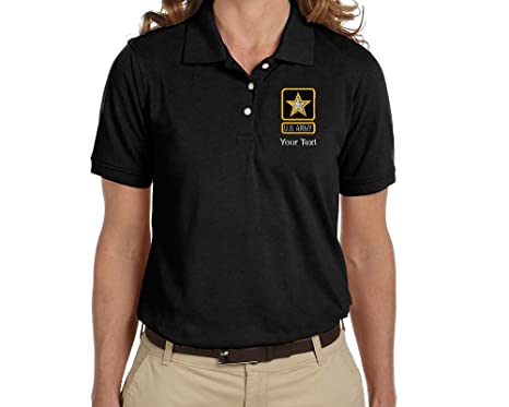 6641e57aa Personalized Custom Embroidered U.S. Army Star Design on Ladies Pique Polo  Shirt, Ladies Small,