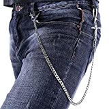 U7 Men Cool Trousers Chain Platinum Plated Crucifix Design Punk Key Pants Chain