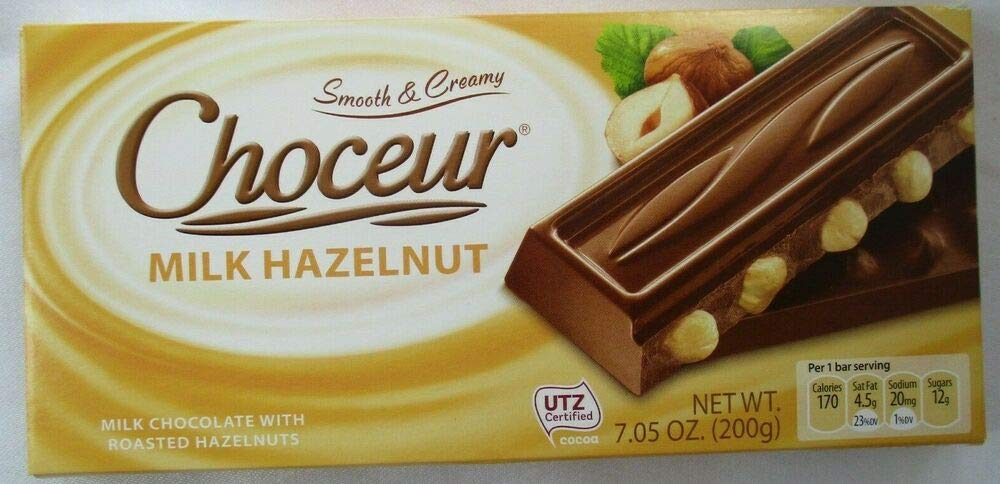 "CHOCEUR PREMIUM CHOCOLATE""MILK HAZELNUT"" 7.05-oz PACK"