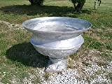 34'' Diameter New Orleans Aluminum Urn Flower Planter-Warm Caramel