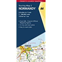 AA Road Map Normandy (AA Touring Map France 02) (AA Road Map France Series)