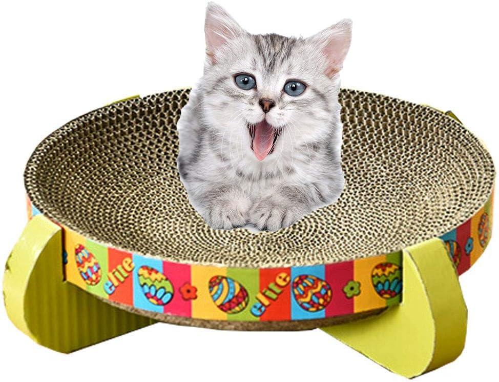 Suministros Para Mascotas, Arena Para Gatos Tablero De Rascar Para Gatos Cama Redonda Para Mascotas - Área De Descanso Para Masajes Fuerte Y Duradero - Antiarañazos