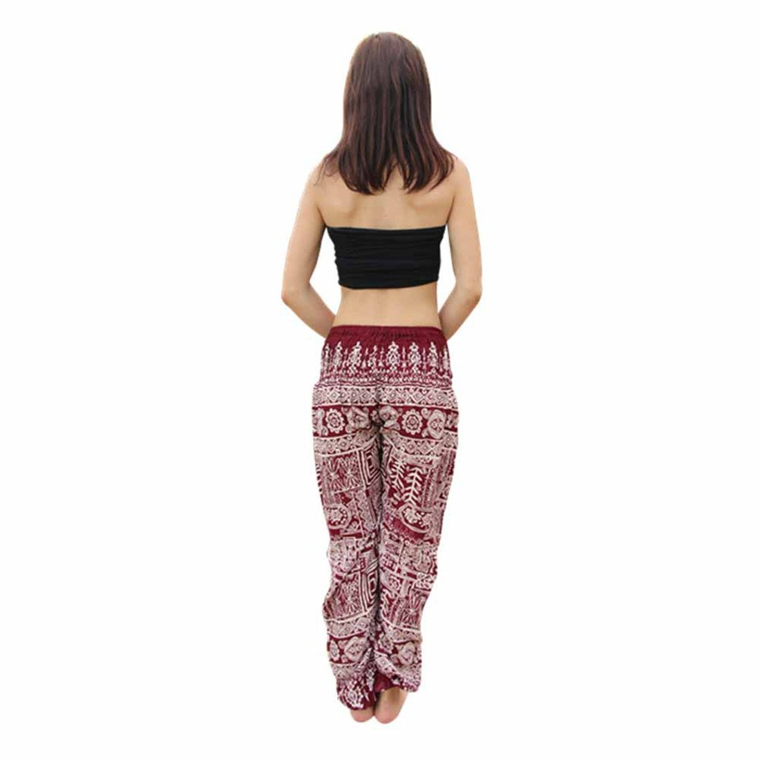 d846bce16b Womens Yoga Pants,YKA,Men Thai Harem Trousers Boho Festival Hippy Smock High  Waist Pants for Ladies - Purple - Free Size: Amazon.co.uk: Clothing