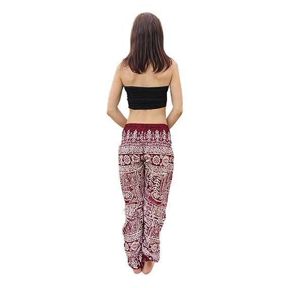 3e3e55c6cf088 Womens Yoga Pants,YKA,Men Thai Harem Trousers Boho Festival Hippy Smock  High Waist Pants for Ladies - Purple - Free Size: Amazon.co.uk: Clothing