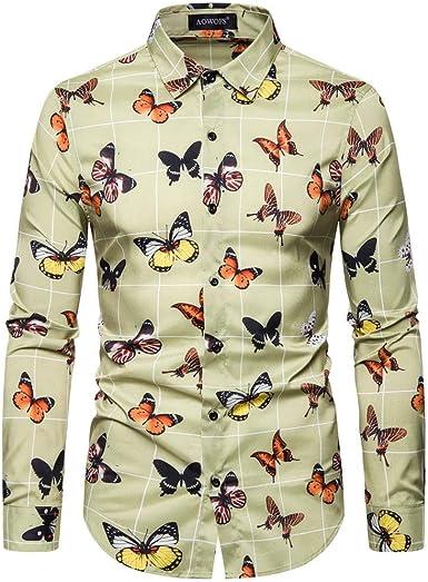 Camisa de Solapa para Hombre, Estilo étnico, Vintage, con ...