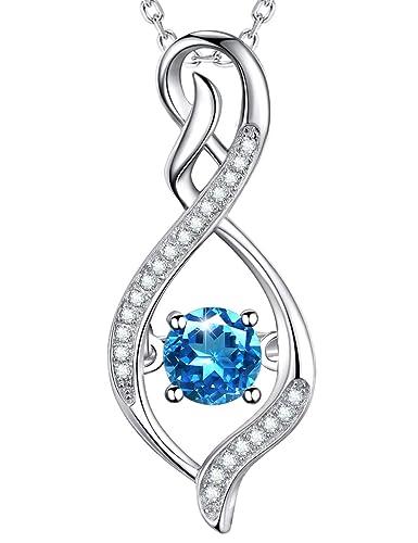 Fashion Jewelry Swiss Blue Topaz Gemstone 925 Silver Jewelry Pendant
