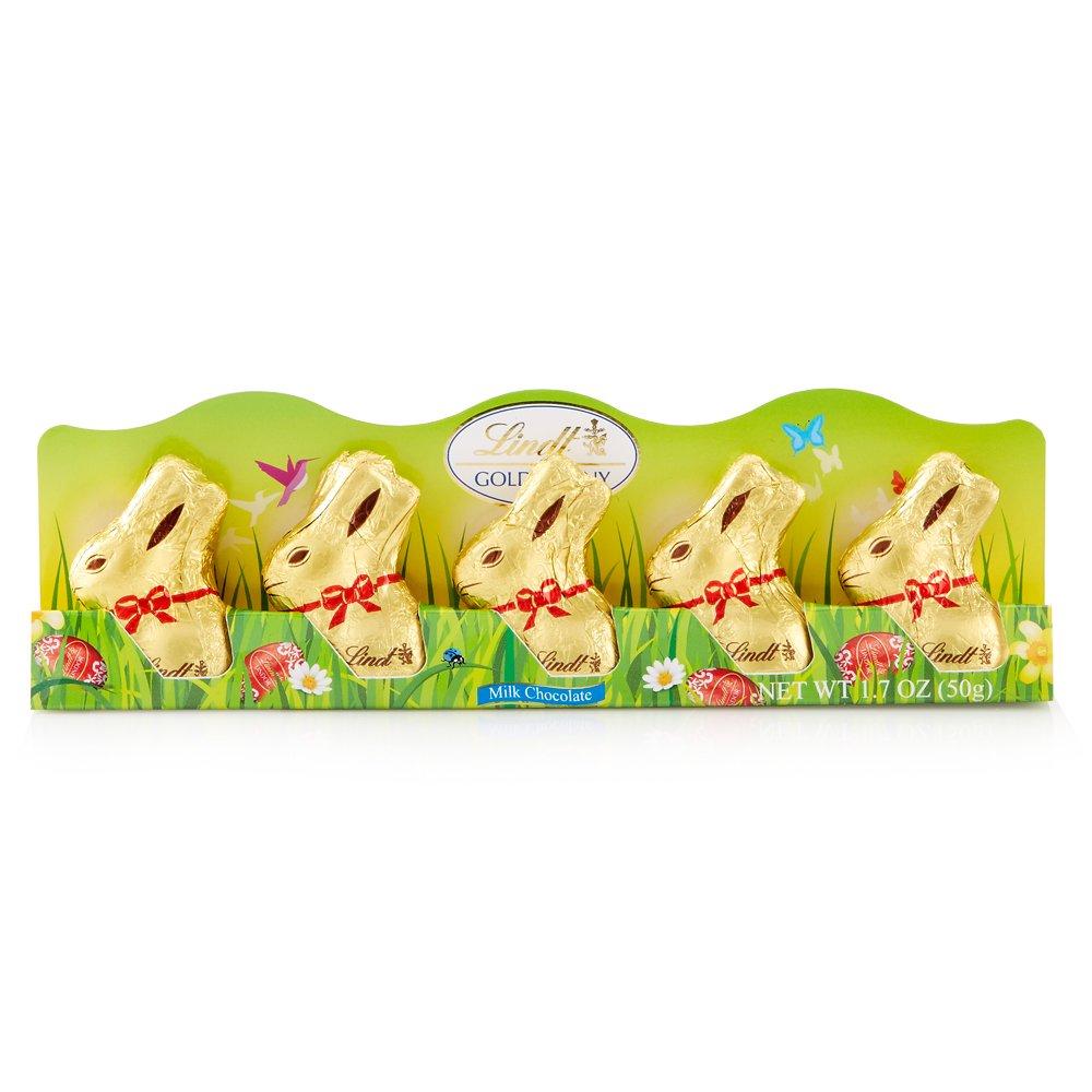 Lindt Mini Gold Bunny, Milk Chocolate, 1.7 Ounce, 5