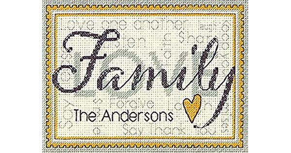 Dimensions Crafts 70-65140 Family Counted Cross Stitch Kit