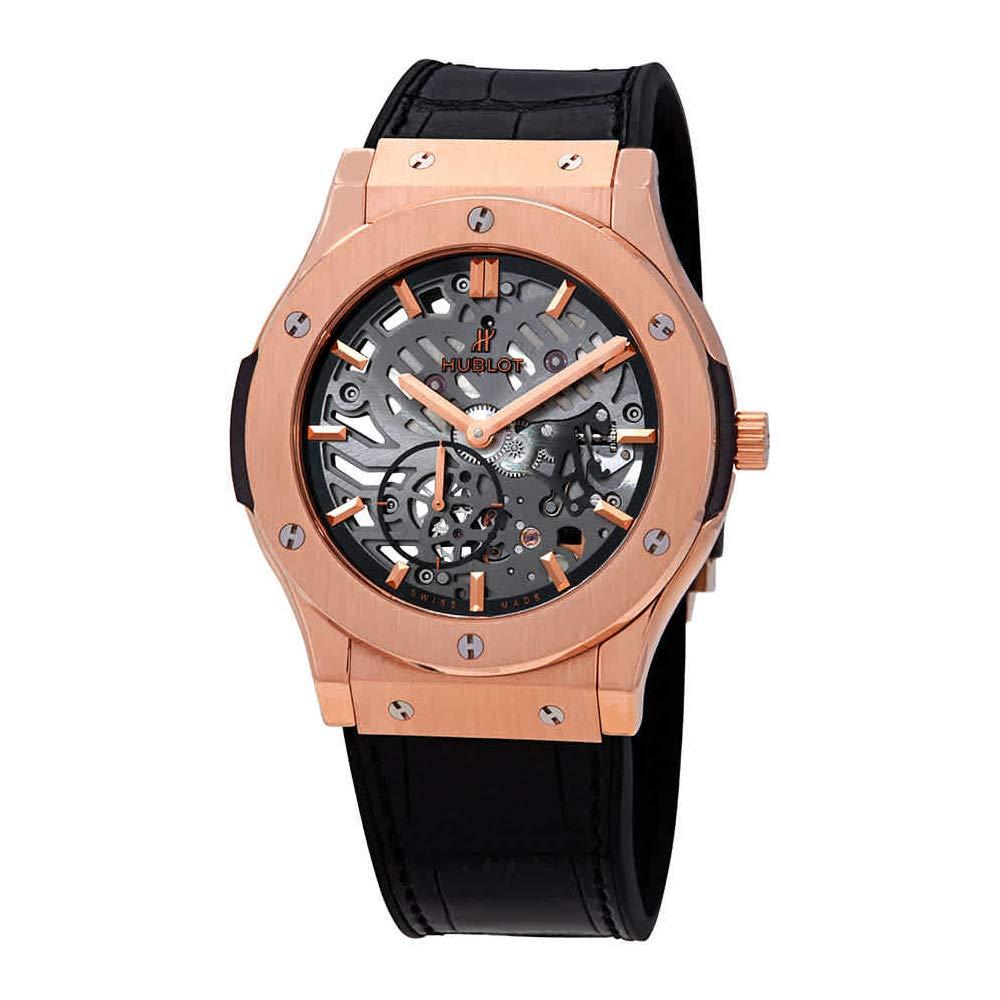Hublot Classic Fusion Classico Men's Ultra-Thin King Gold Manual Watch, Swiss Made Watch, Gold Watch, Skeleton Watches