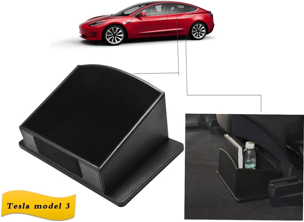 2017-2019 EVFIT Car for Tesla Model 3 S Accessories Center Storage Box Rear Seat Container Back Under Console Mat
