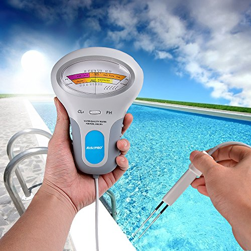 Risepro Chlorine Tester Cl2 Chlorine Ph Tester Swimming Pool Spa Water Quality Analysis Pc