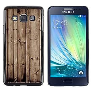 EJOY---Cubierta de la caja de protección la piel dura para el ** Samsung Galaxy A3 ** --Madera Retro