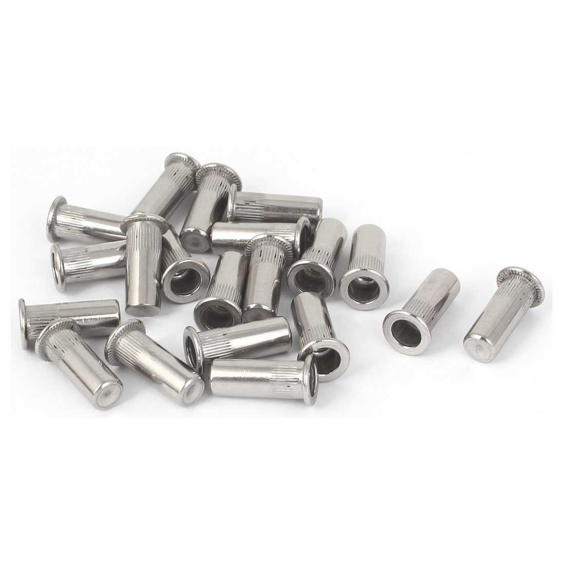 Uxcell a16070700ux0252 Closed End Rivet Nut M5X18.5Mm 304 Stainless Steel Straight Knurled Closed End Rivet Nut Fastener 20Pcs