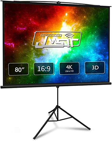 """77/"""" 16:9 Outdoor Indoor Projector Screen with Stand Foldable Portable Movie Home"""