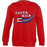 Supportershop–8Sweatshirt Costa Rica 8Mixta niños, Rojo, FR: L