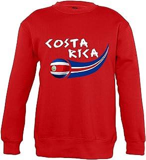 Supportershop Sweatshirt Costa Rica Unisex Bambino, Rosso, FR: 2XL (Dimensioni Produttore: 12Anni)