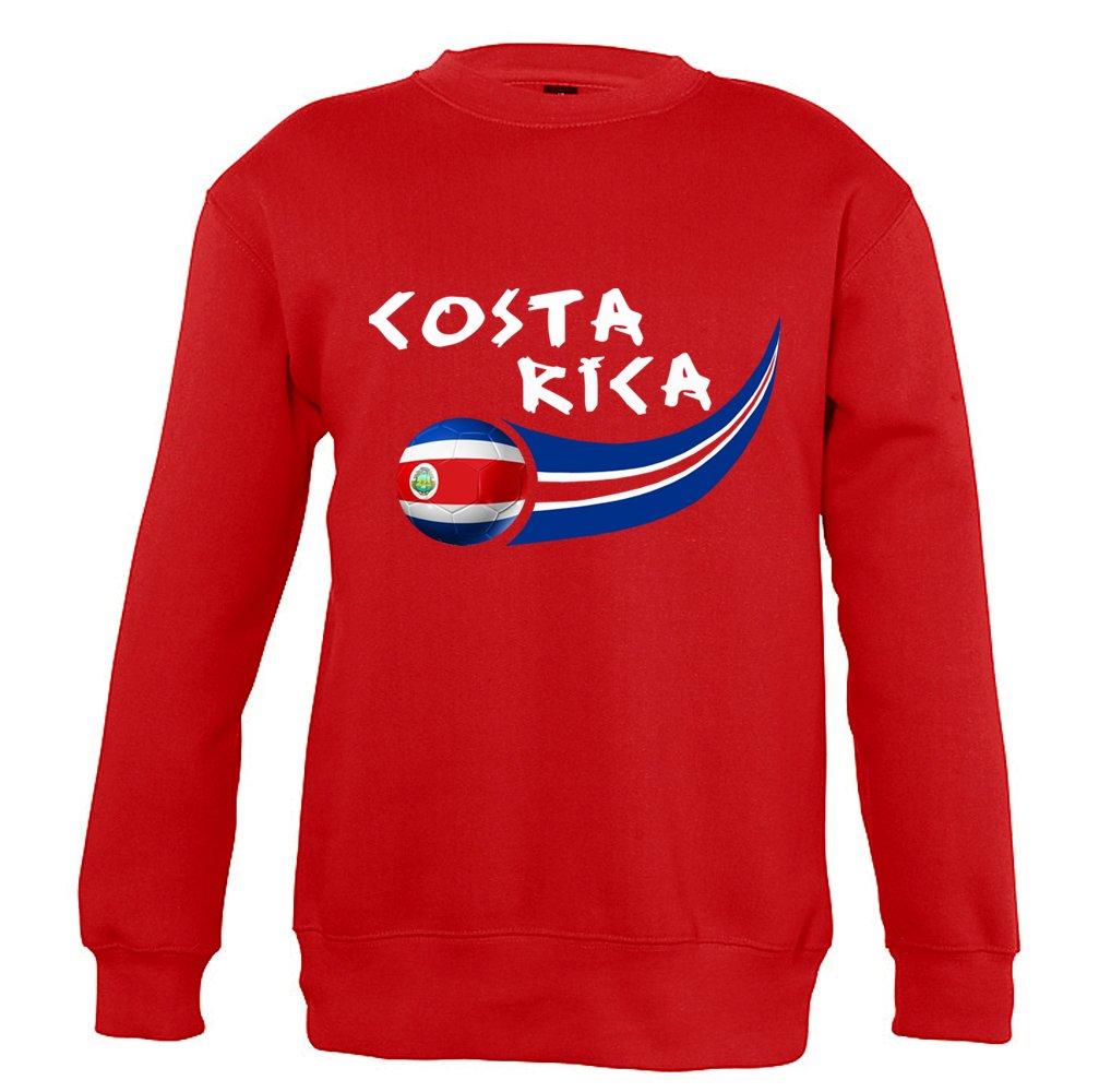 Supportershop 6Sweatshirt Costa Rica 6Unisex Kinder, Rot, FR: M (Größe Hersteller: 6Jahre) SUPQM|#Supportershop 5060542522816