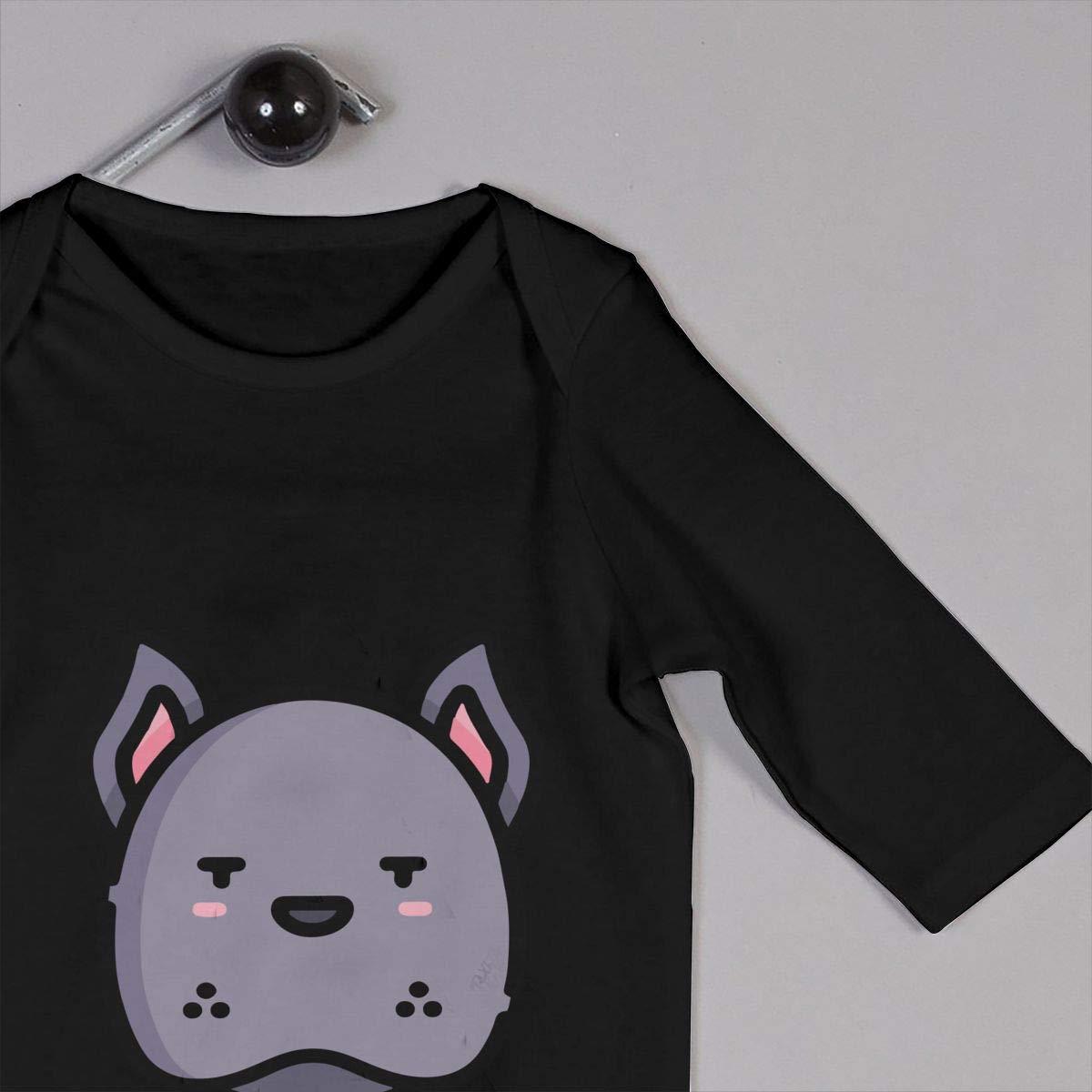 Q64 Baby Girls Round Collar Great Dane Long Sleeve Bodysuits 100/% Cotton Suit 6-24 Months