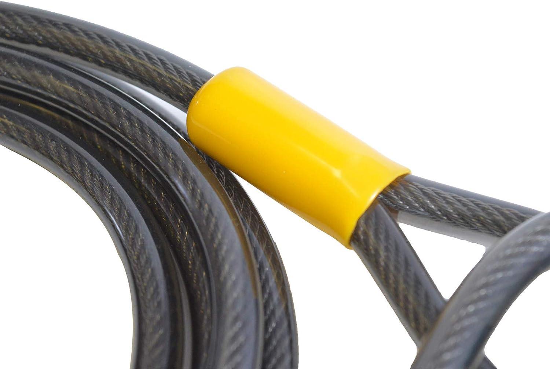 Cable de seguridad para bicicleta de doble bucle de acero de 2500 mm//3000 mm//4600 mm//9300 mm