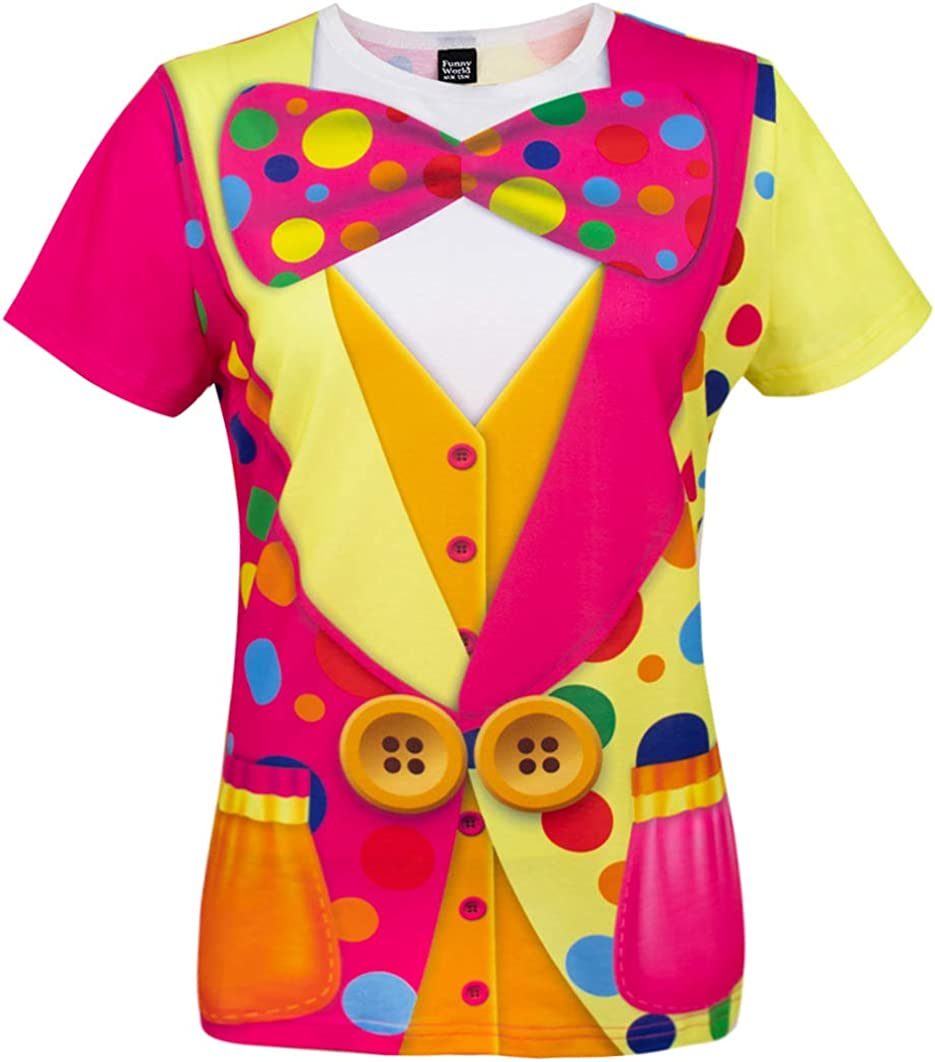 Funny World Women's Clown Costume T-Shirts