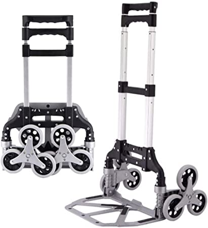 El nuevo eslabón giratorio mejorado 3 ruedas Escalera Camión de mano plegable Carretilla plegable aluminio resistente Carretilla plegable Carretilla mano industrial Almacén, Camión ligero del equipaje: Amazon.es: Hogar
