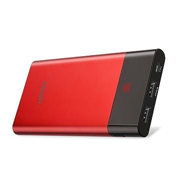 PISEN Batería Externa Cargador Portátil para Movil 10000mAh con Pantalla LED Ultra Slim Power Bank de Alta Capacidad para iPhone, iPad, Samsung, Nexus ...