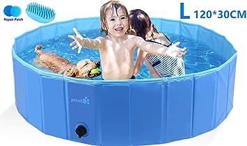 Neu Planschbecken Kinderpool Faltbar Swimmingpool Schwimmbecken 4 Form Hundepool