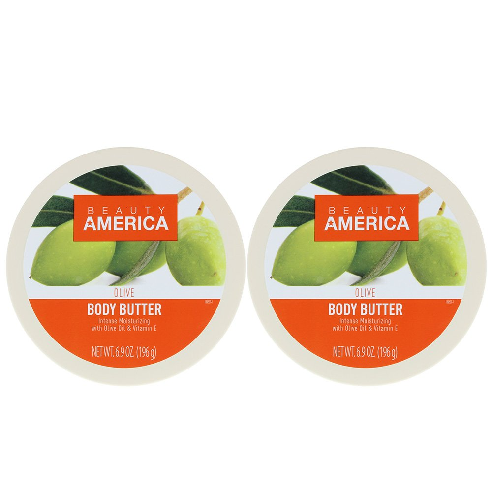 Beauty America Intense Moisturizing Body Butter With Olive Oil & Vitamin E, 2 pack by Beauty America