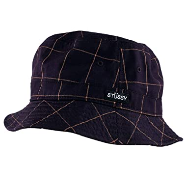 2f7159e7ddaa9 Stussy Window Pane Bucket Hat Maroon Small Medium  Amazon.co.uk  Clothing