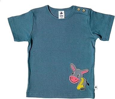 Leela Cotton - Camiseta para bebé o niño (algodón bio) azul ...
