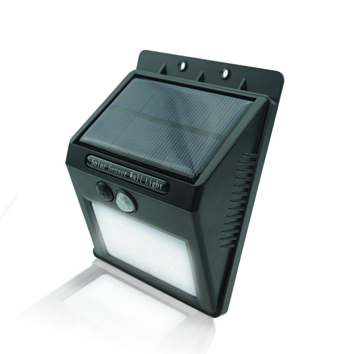 Bon Venu Solar Powered Outdoor Lights Motion Sensor Lamp Wireless Wall Lights 16 LEDs Weatherproof Auto ON/OFF Step Lights for Home Patio Garden Yard Driveway Porch