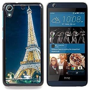 """Qstar Arte & diseño plástico duro Fundas Cover Cubre Hard Case Cover para HTC Desire 626 (Resplandeciente Torre Eiffel"""")"""